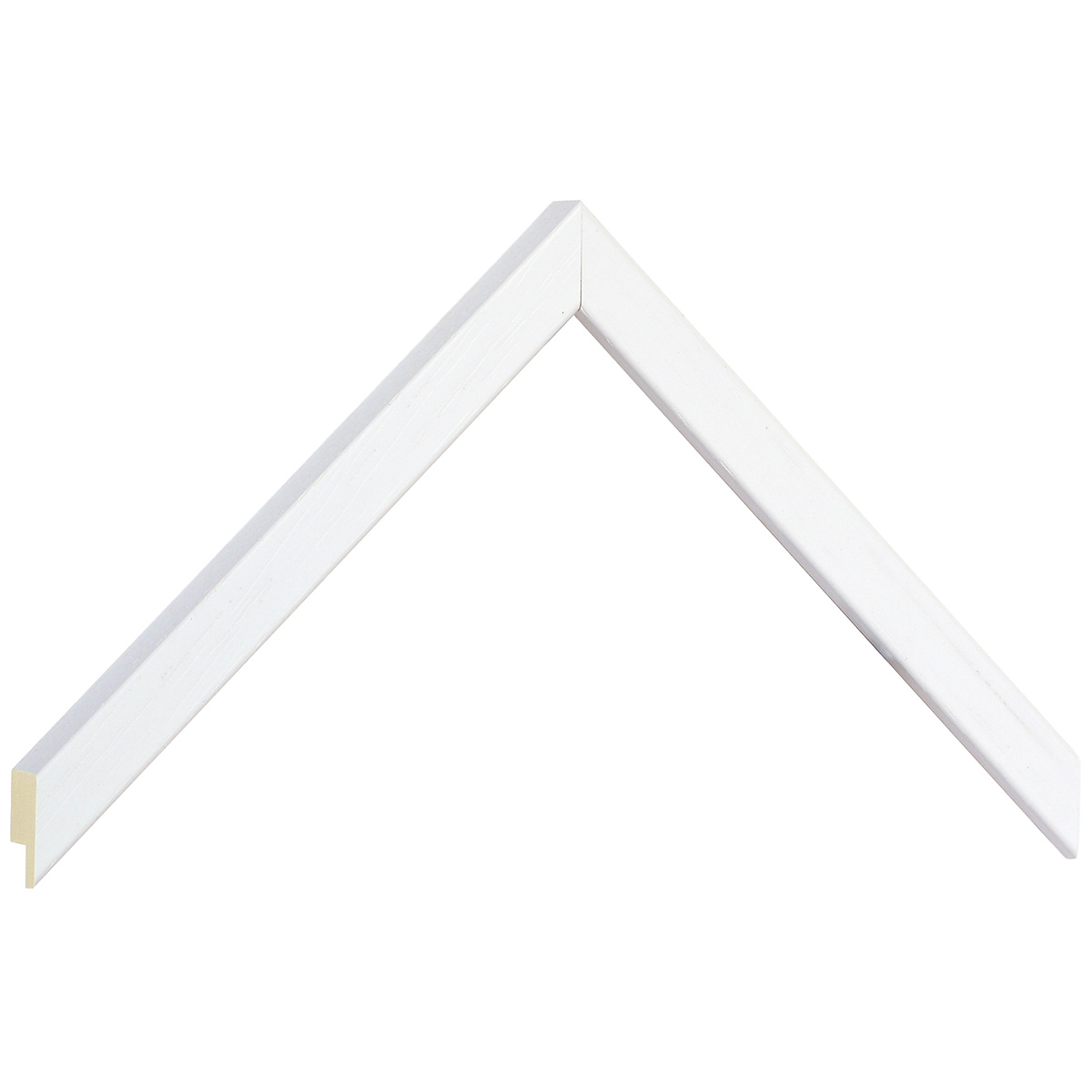 Moulding ramin width 15mm height 14 - white, open grain