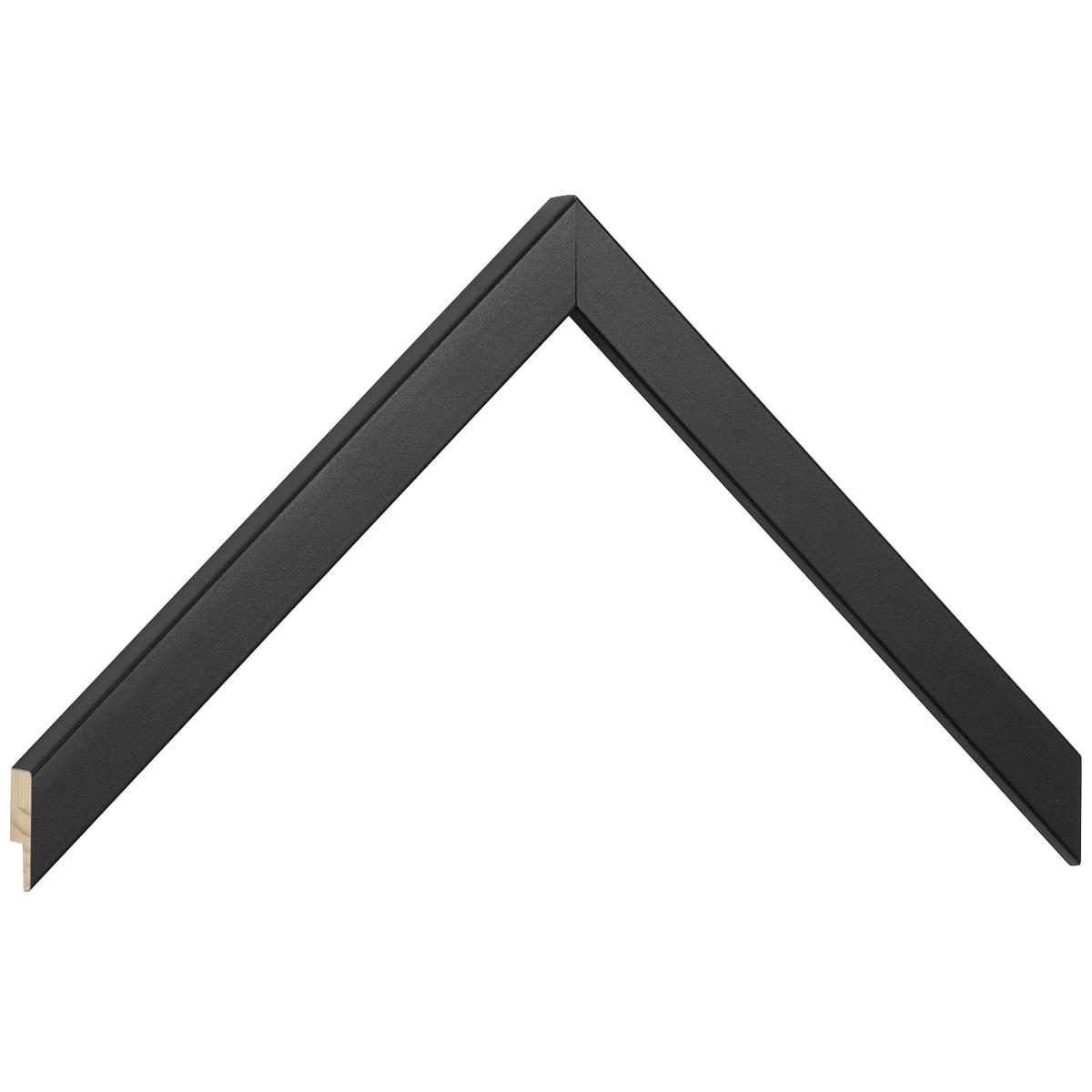 Moulding ayous width 15mm height 14 - matt black