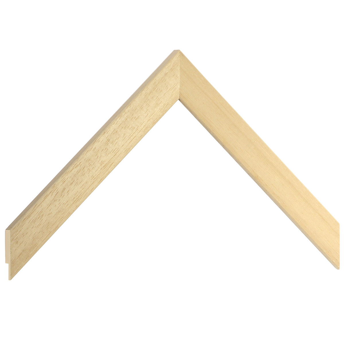 Moulding ayous, width 20mm, height 10mm, bare timber