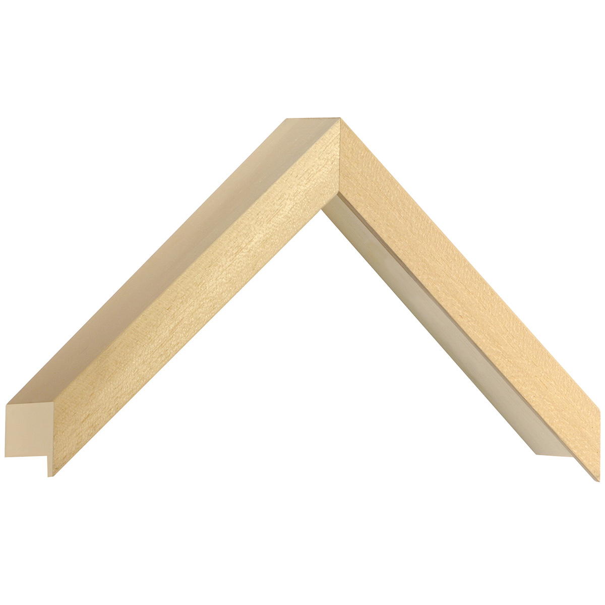 Moulding ayous, width 20mm, height 55mm, bare timber