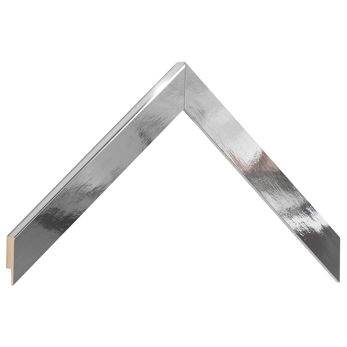 Moulding ayous, width 20mm height 14 - bright silver