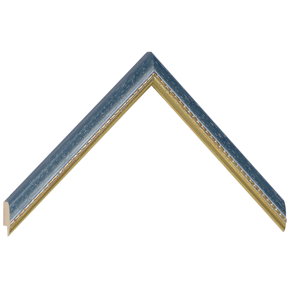Moulding ayous 17mm - blue, gold decorative relief