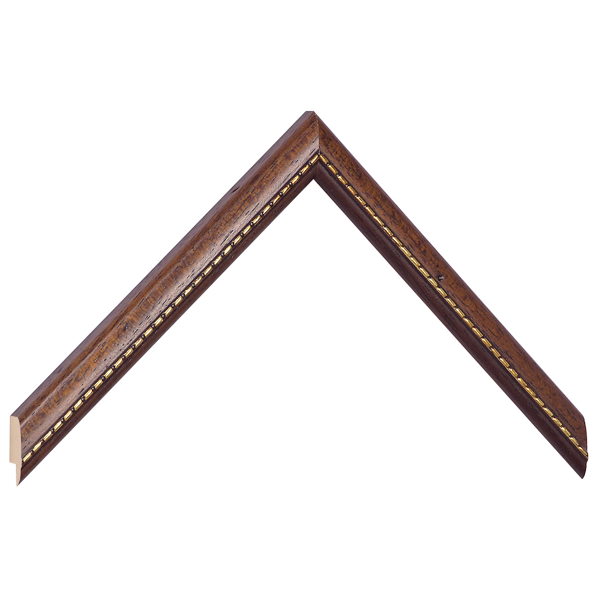 Moulding ayous 17mm - brown, gold decorative relief