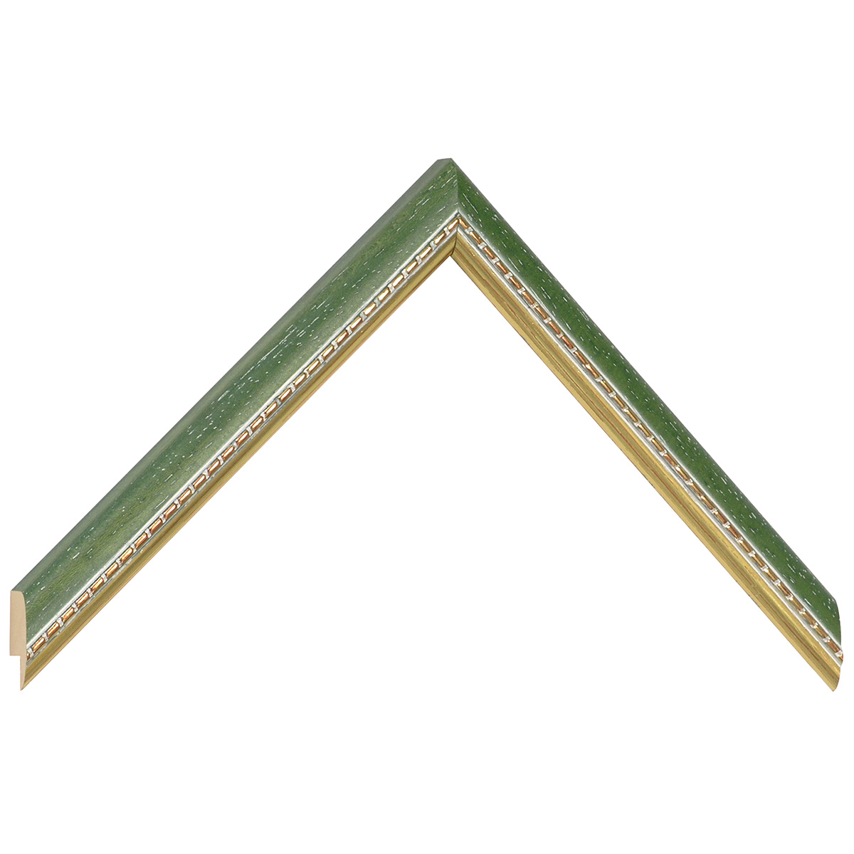 Moulding ayous 17mm - green, gold decorative relief