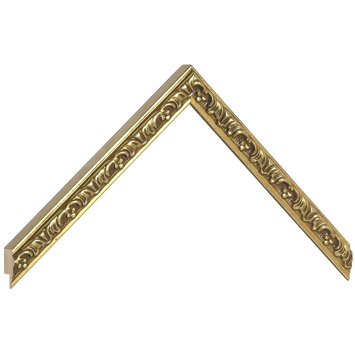 Moulding ayous - Larg.16mm Height 17 - Gold with decorations