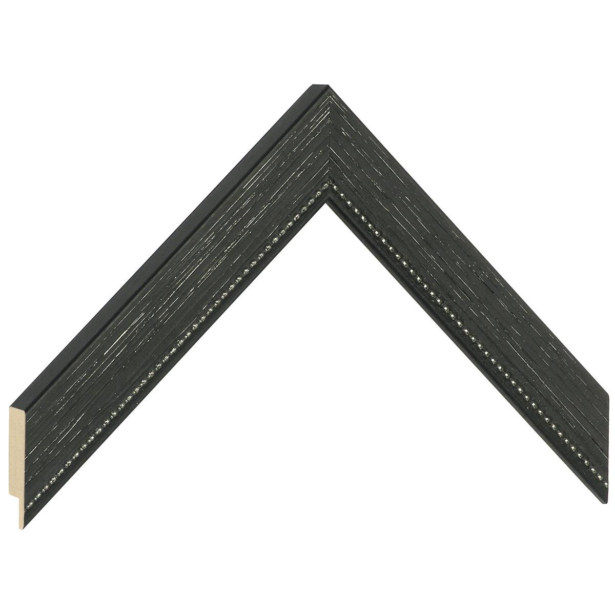 Moulding fir 28mm - matt finish, black