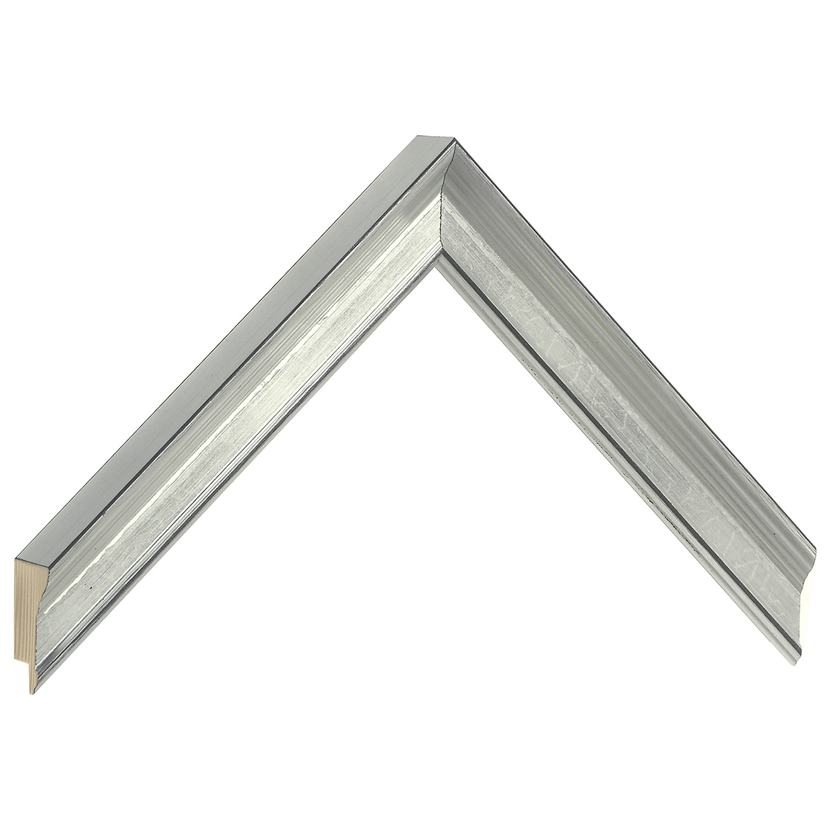 Moulding finger joint pine - width 23mm height 25 - silver
