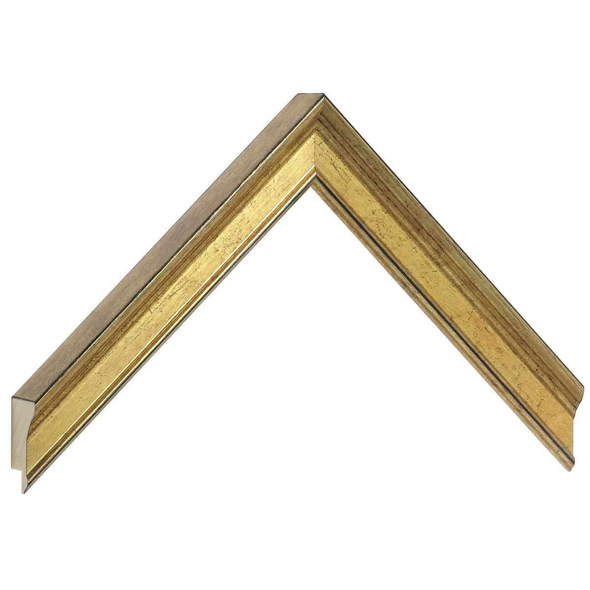 Moulding finger joint pine - width 23mm height 25 - golg
