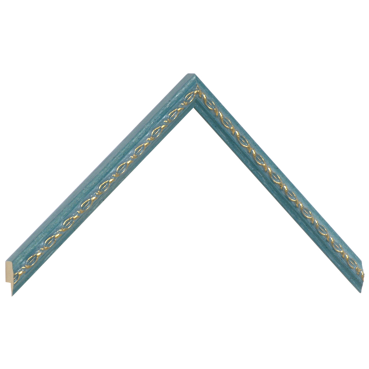 Moulding ayous 14mm - azure, gold decorative relief