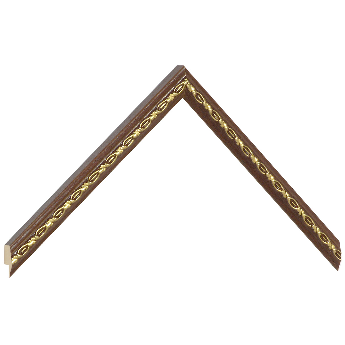 Moulding ayous 14mm - brown, gold decorative relief