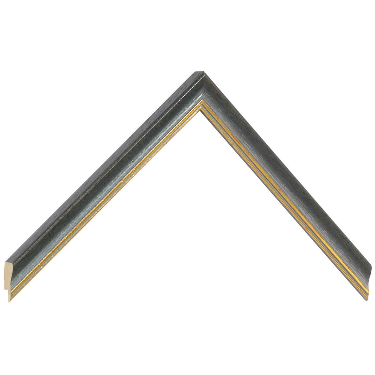 Moulding ayous width 15mm - matt gray with gold edge