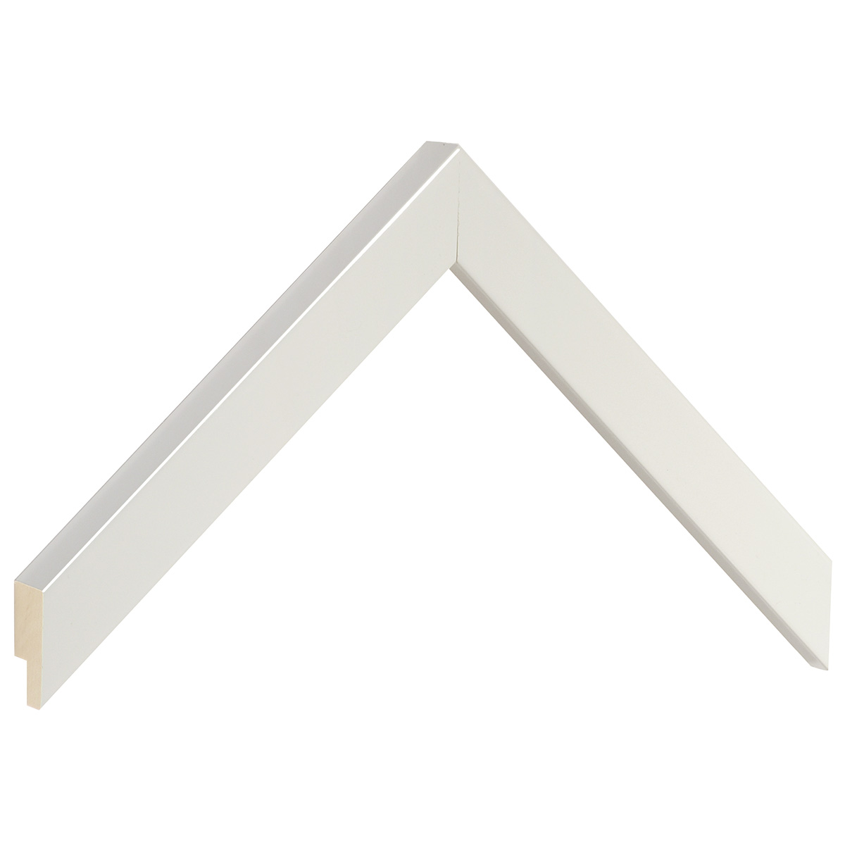 Moulding ayous, width 20mm height 20 - Glossy White