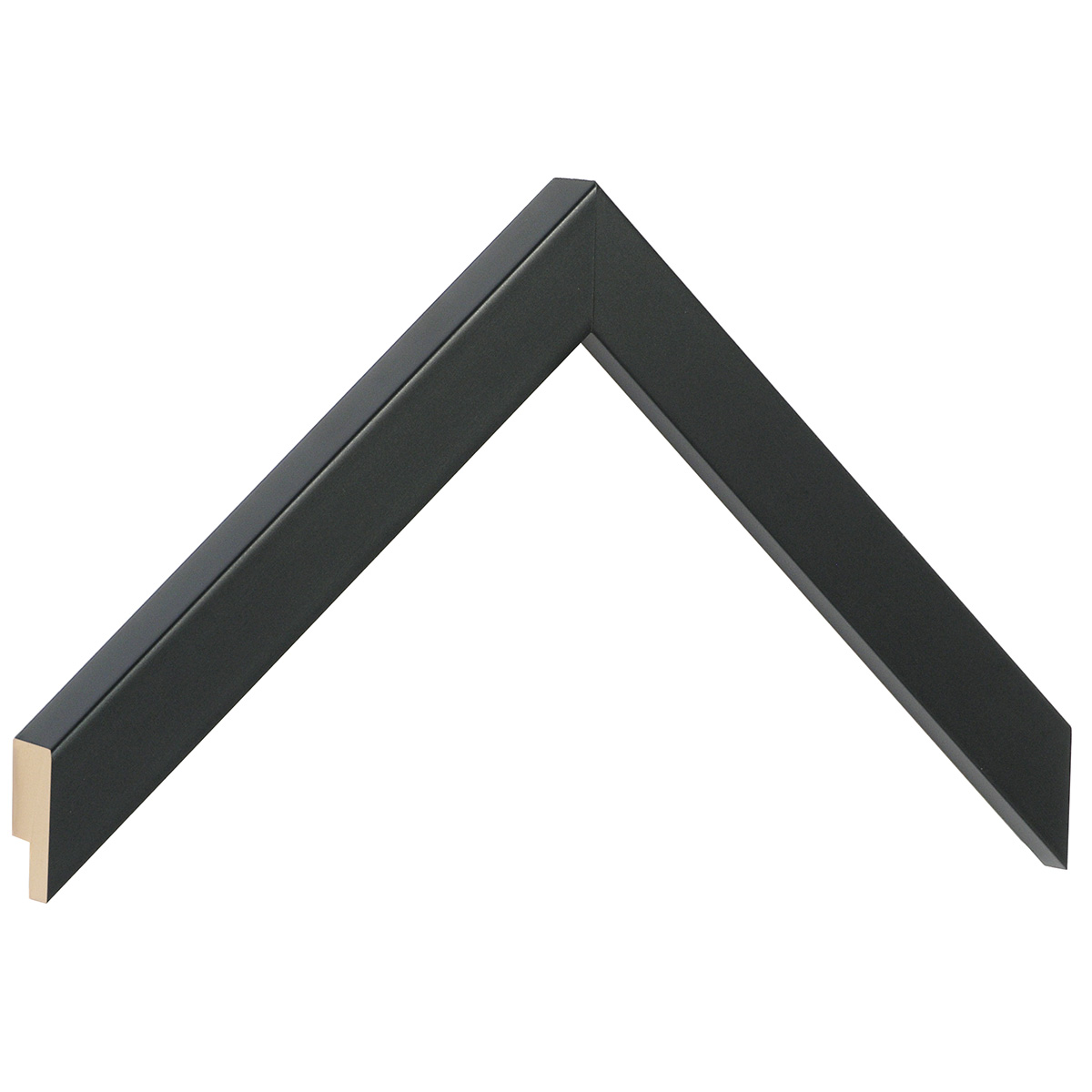 Moulding ayous, width 20mm height 20 - Mat Black