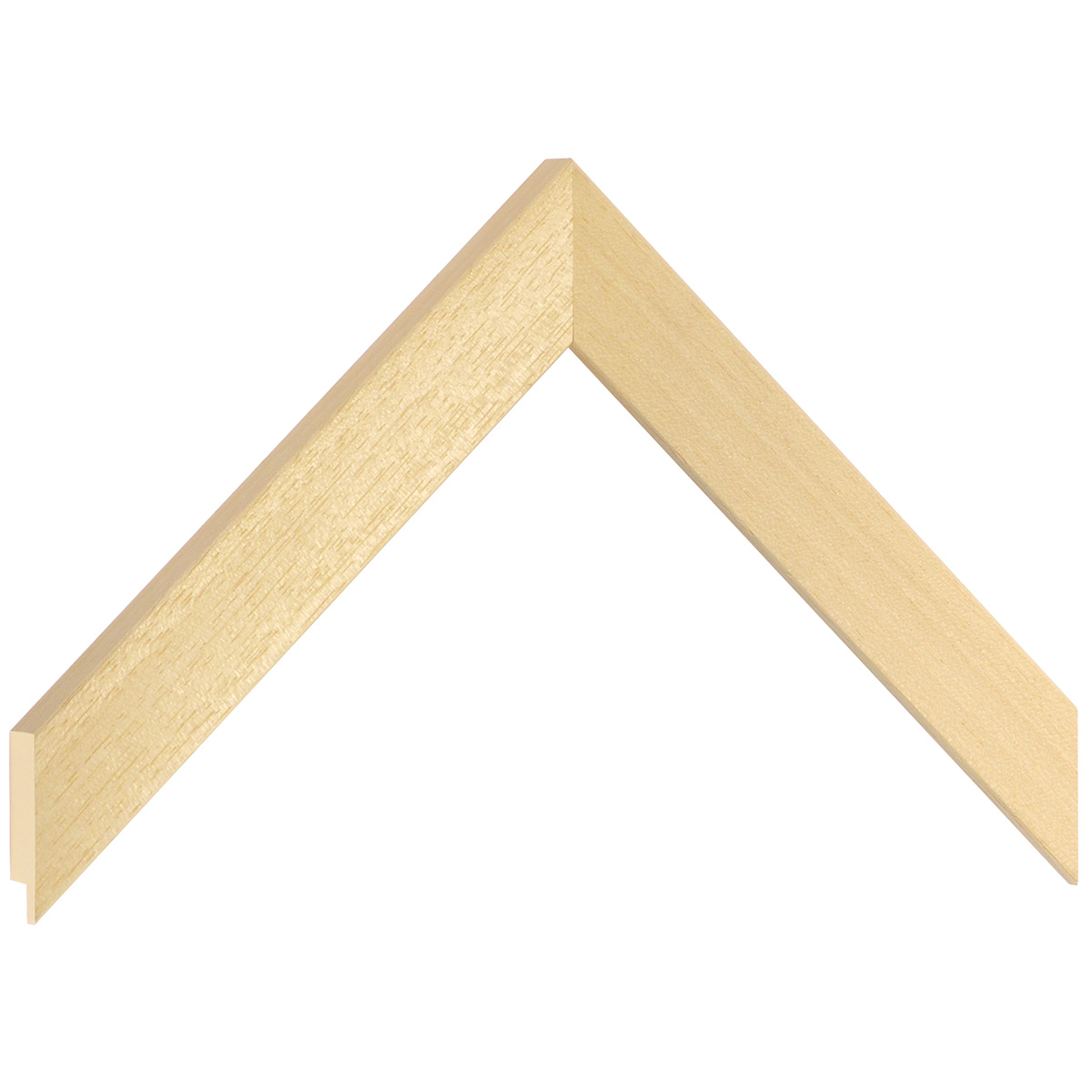 Moulding ayous, width 25mm, height 15mm, bare timber