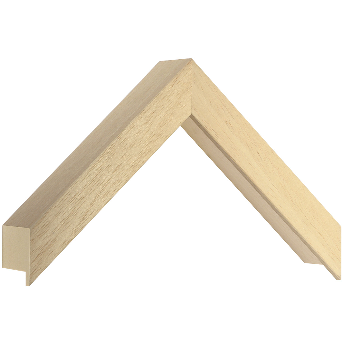 Moulding ayous, width 25mm, height 45mm, bare timber