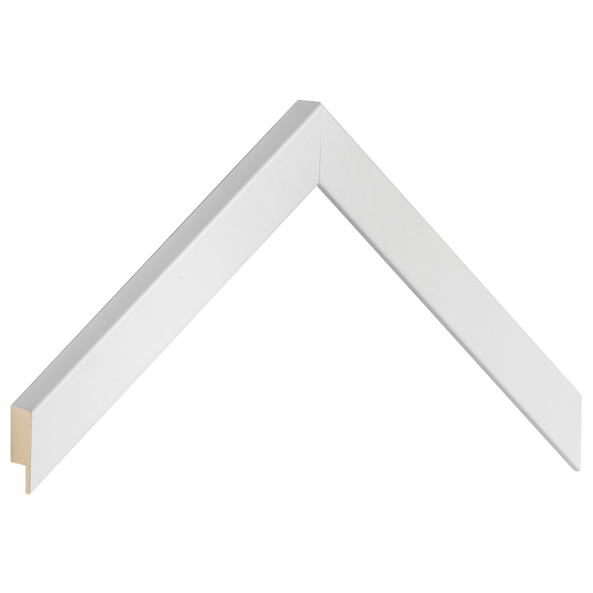 Moulding ayous, width 20mm height 20 - White, matt