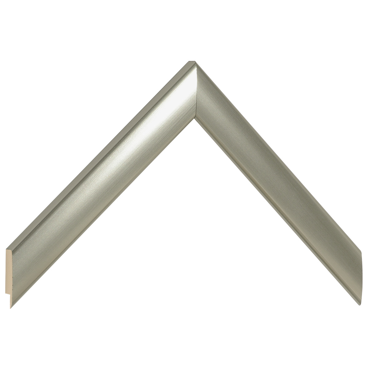 Moulding ayous, width 23mm height 13 - platinum