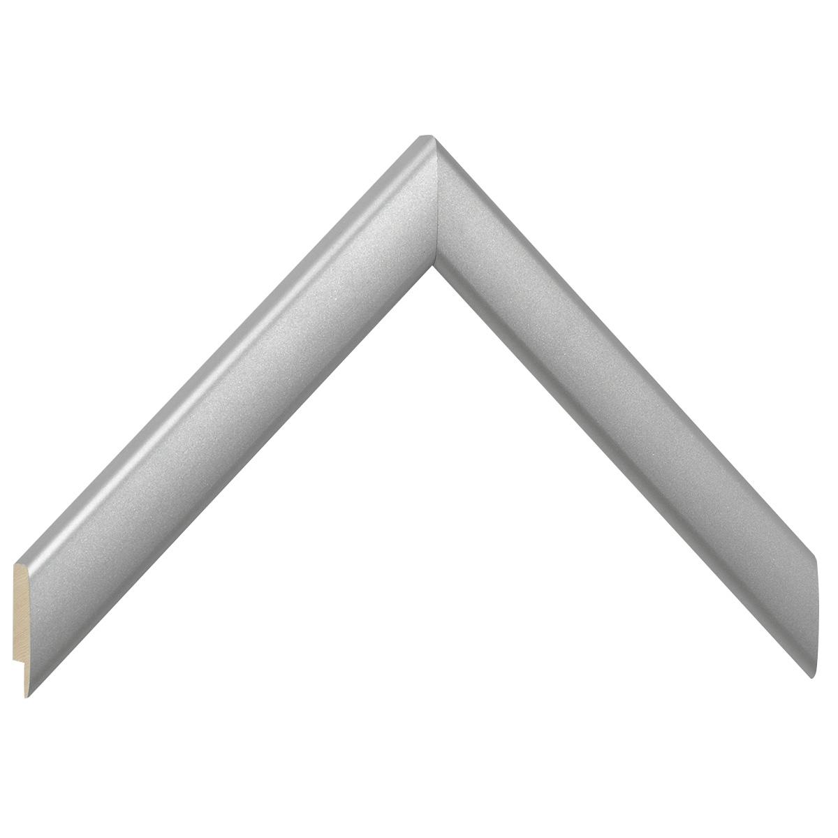 Moulding ayous, width 23mm height 13 - matt silver