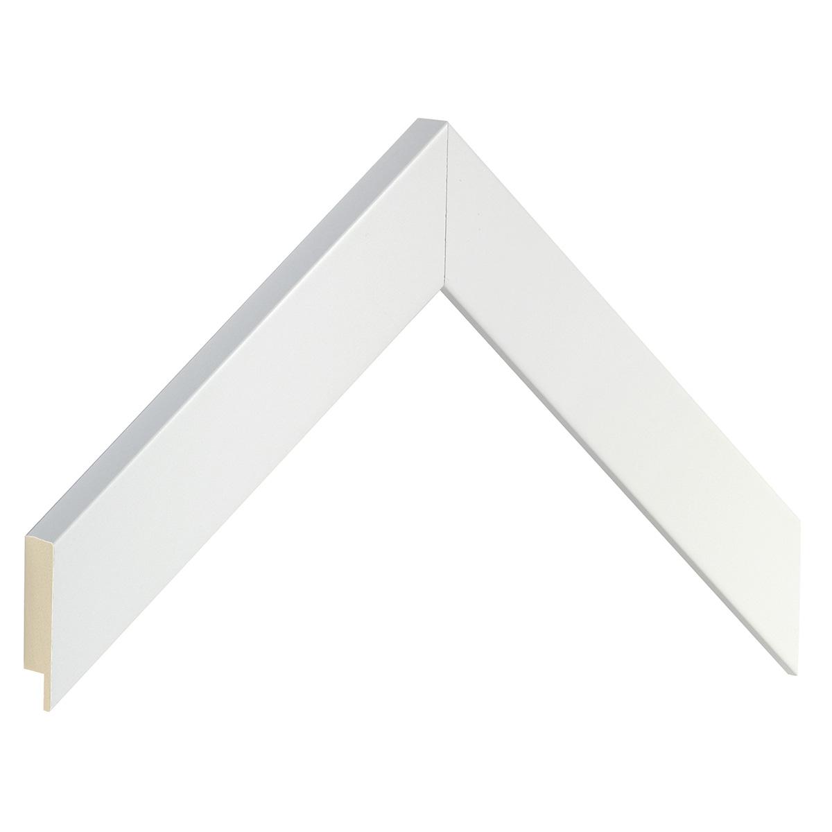 Moulding ayous, width 30mm height 20 - White, matt