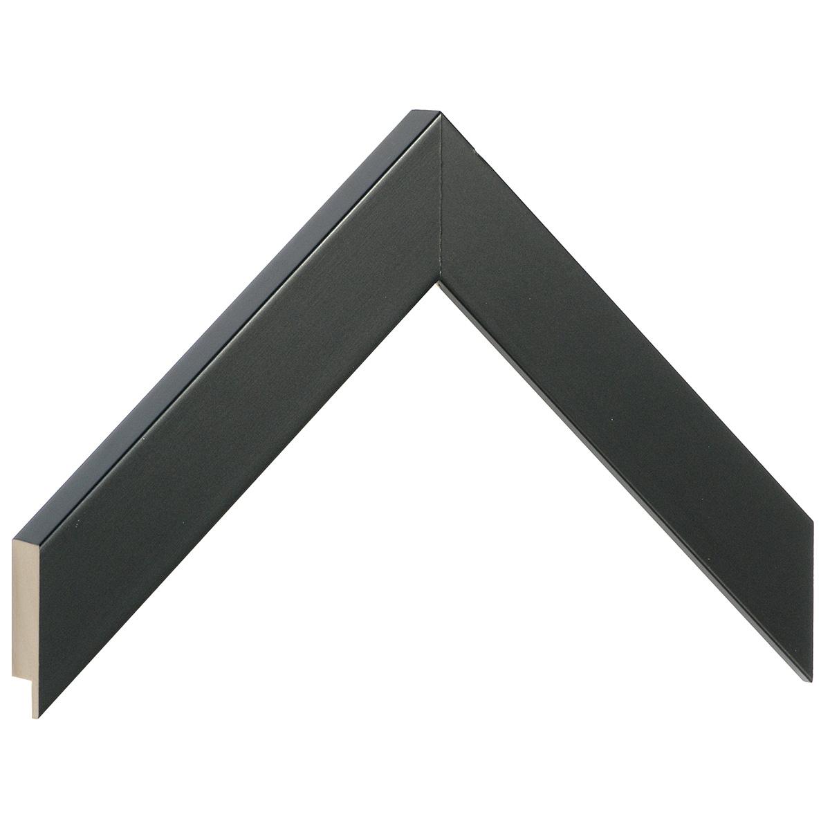 Moulding ayous, width 30mm height 20 - Matt black