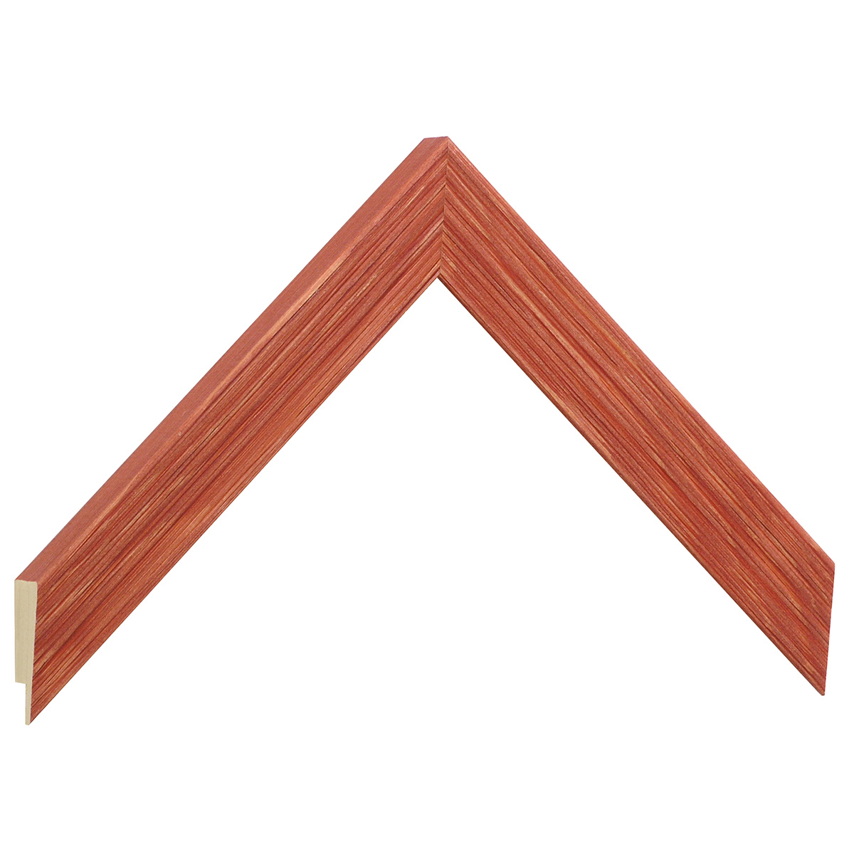 Moulding fir, width 24mm, height 018, striated - red