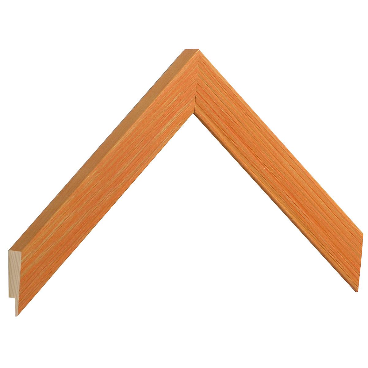Moulding fir, width 24mm, height 018, striated - orange