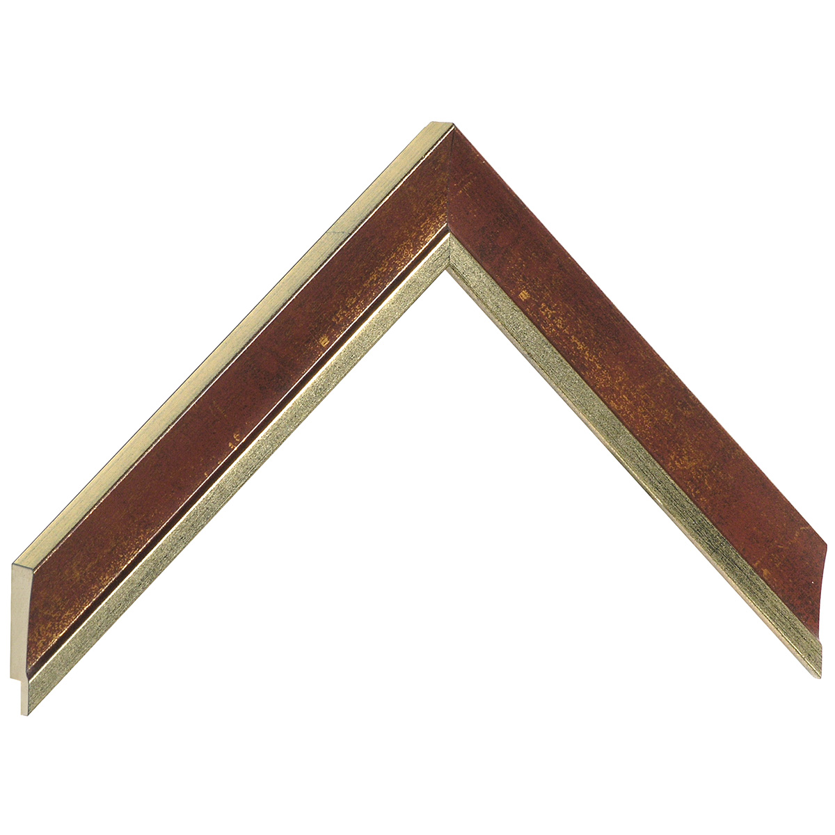 Moulding ayous - Width 25mm - Gold with red band