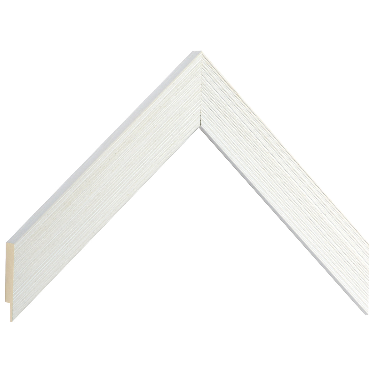 Moulding ayous, width 30mm height 14 - streaked cream finish