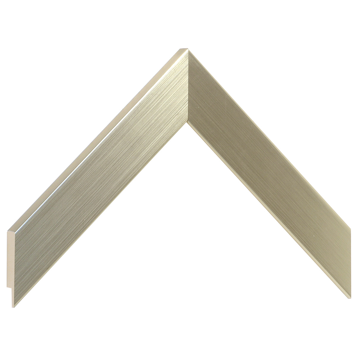 Moulding ayous, width 30mm height 14 - platinum