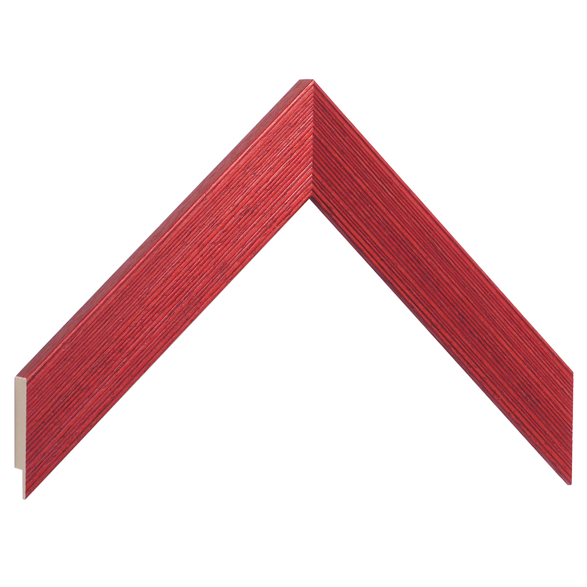 Moulding ayous, width 30mm height 14 - streaked red finish