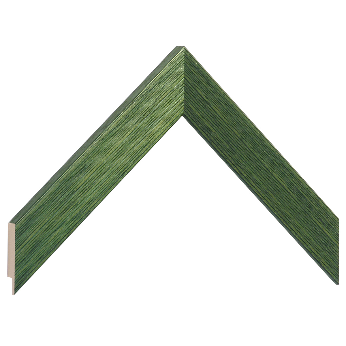 Moulding ayous, width 30mm height 14 - streaked green finish