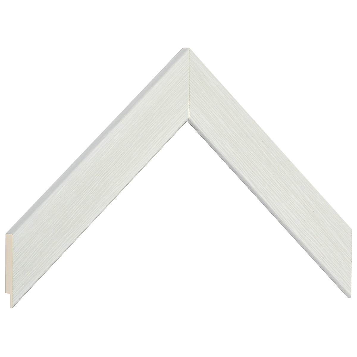 Moulding ayous, width 30mm height 14 - white, open grain