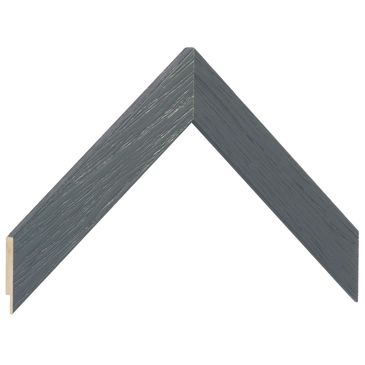 Moulding ayous, width 30mm height 14 - grey, open grain