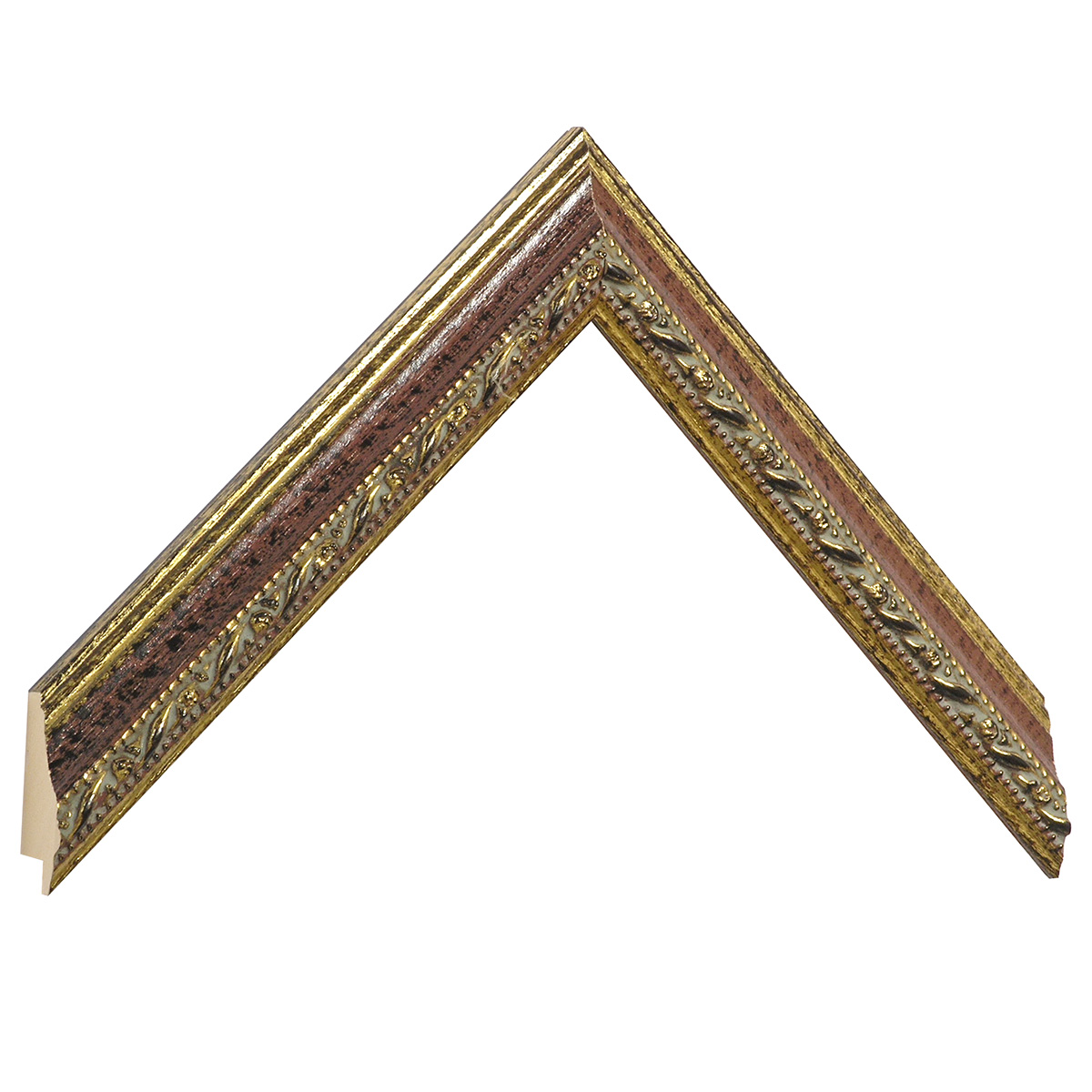 Moulding ayous 26mm - gold with red band