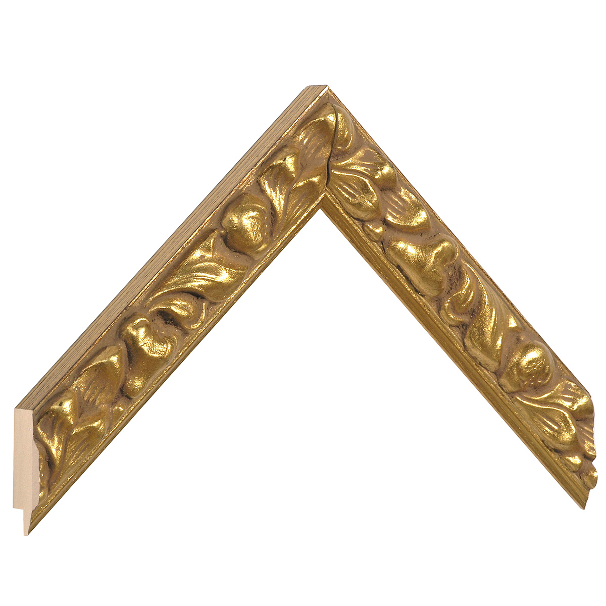 Moulding ayous 29mm - gold, embossed floral decorations