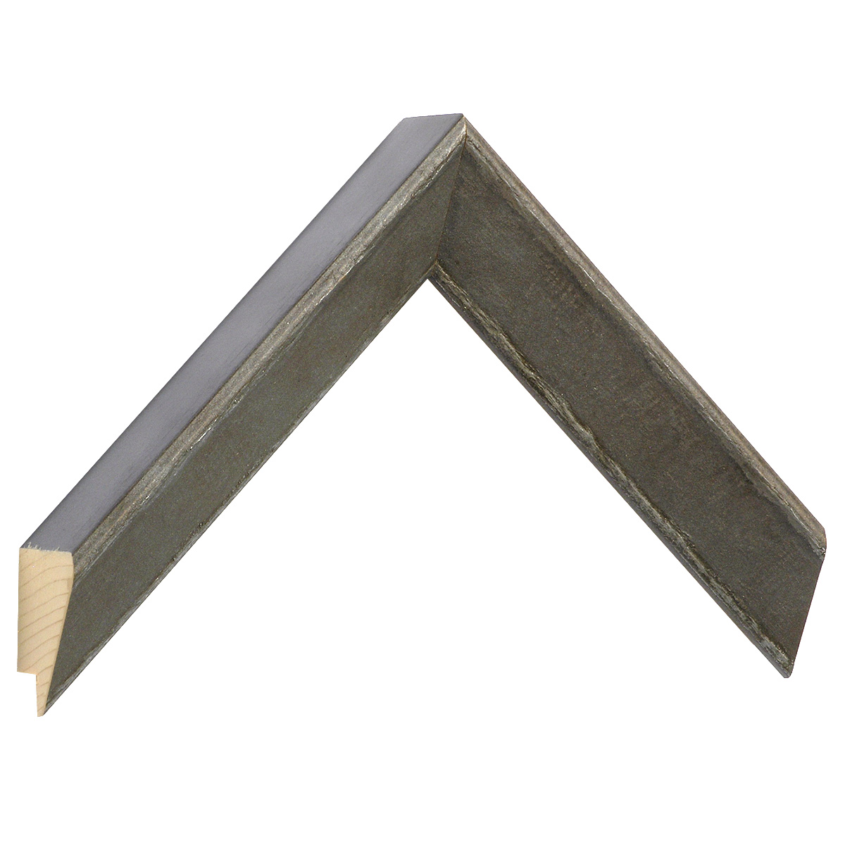 Moulding pine 32 mm height - Grey with silver decor