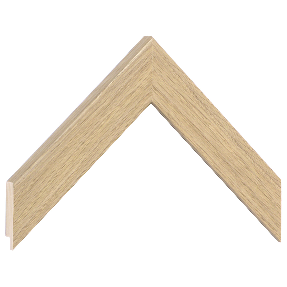 Moulding pine 34mm - veneered, colour beech (mt 12)