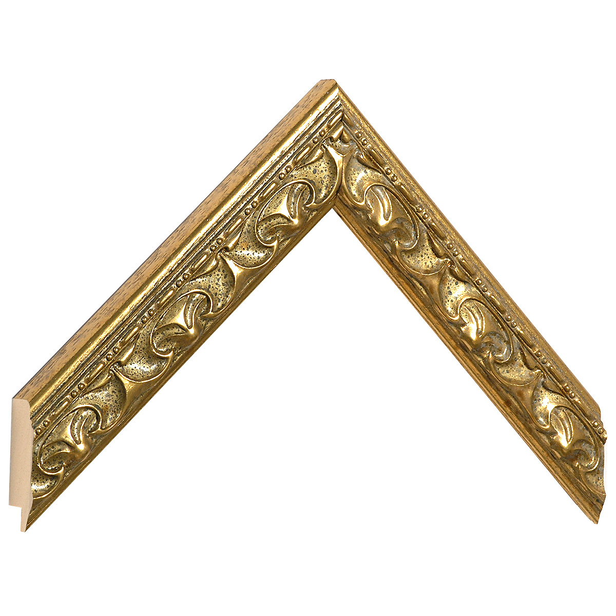 Moulding ayous gold with relief decorations