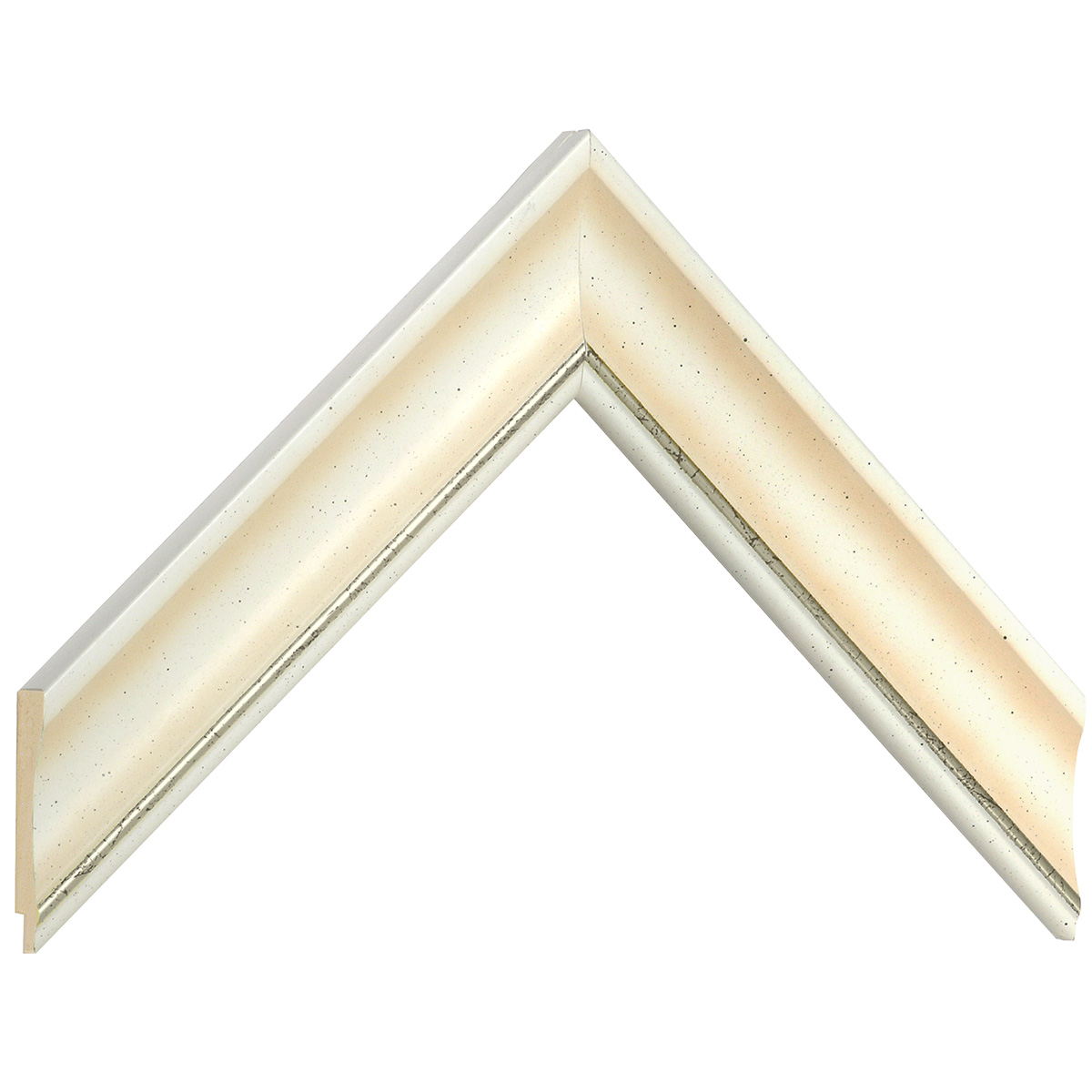 Liner ayous 35mm - convex shape, cream coloured, silver edge