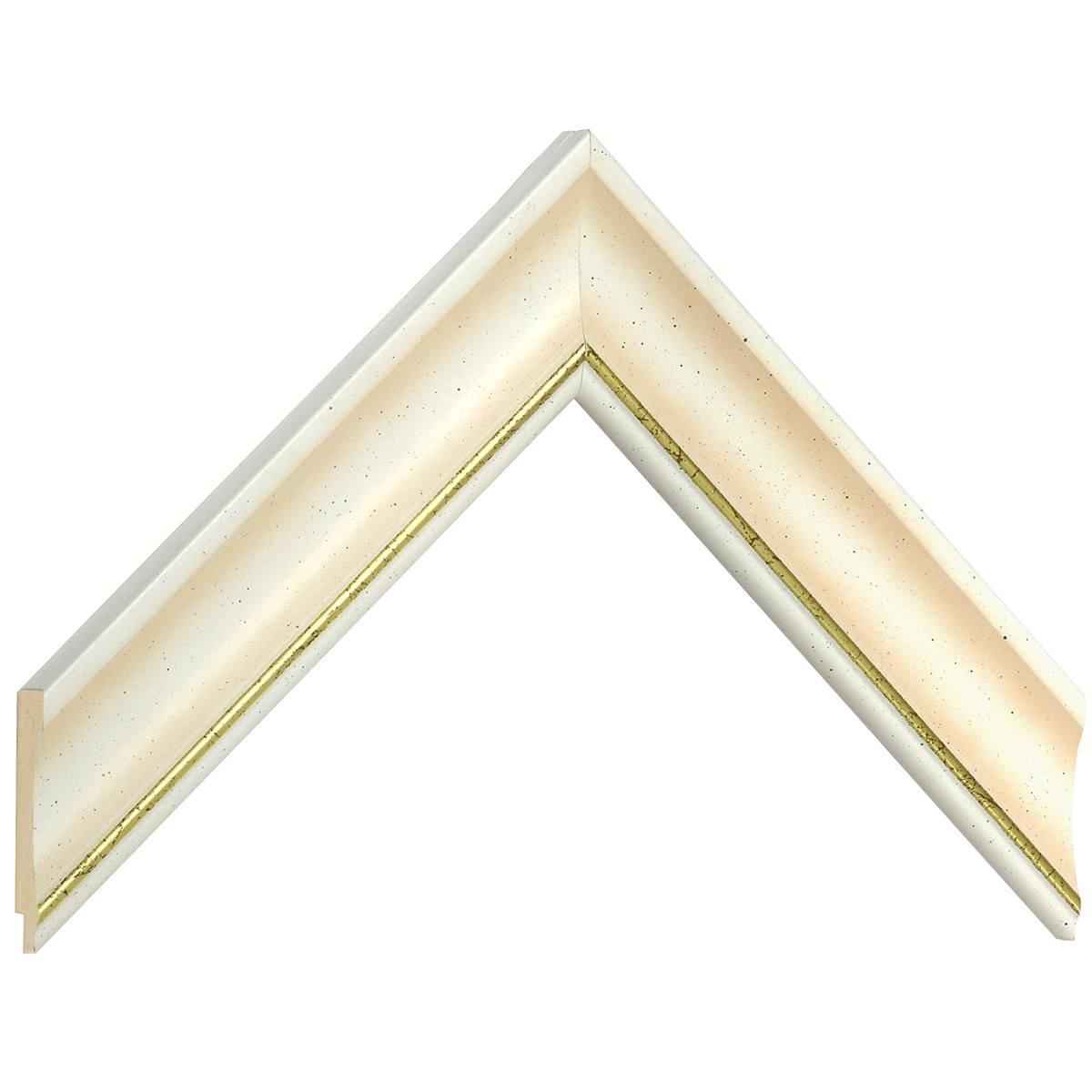 Liner ayous 35mm - convex shape, cream coloured, gold edge