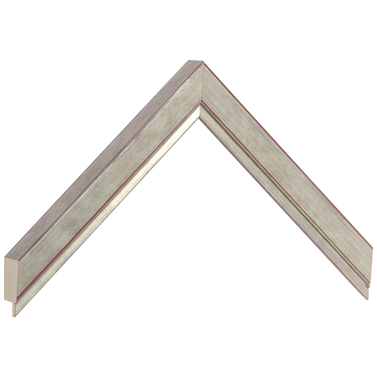 Moulding ayous, width 22mm height 22 - silver finish
