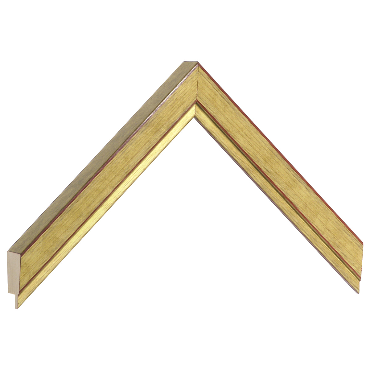 Moulding ayous, width 22mm height 22 - gold finish