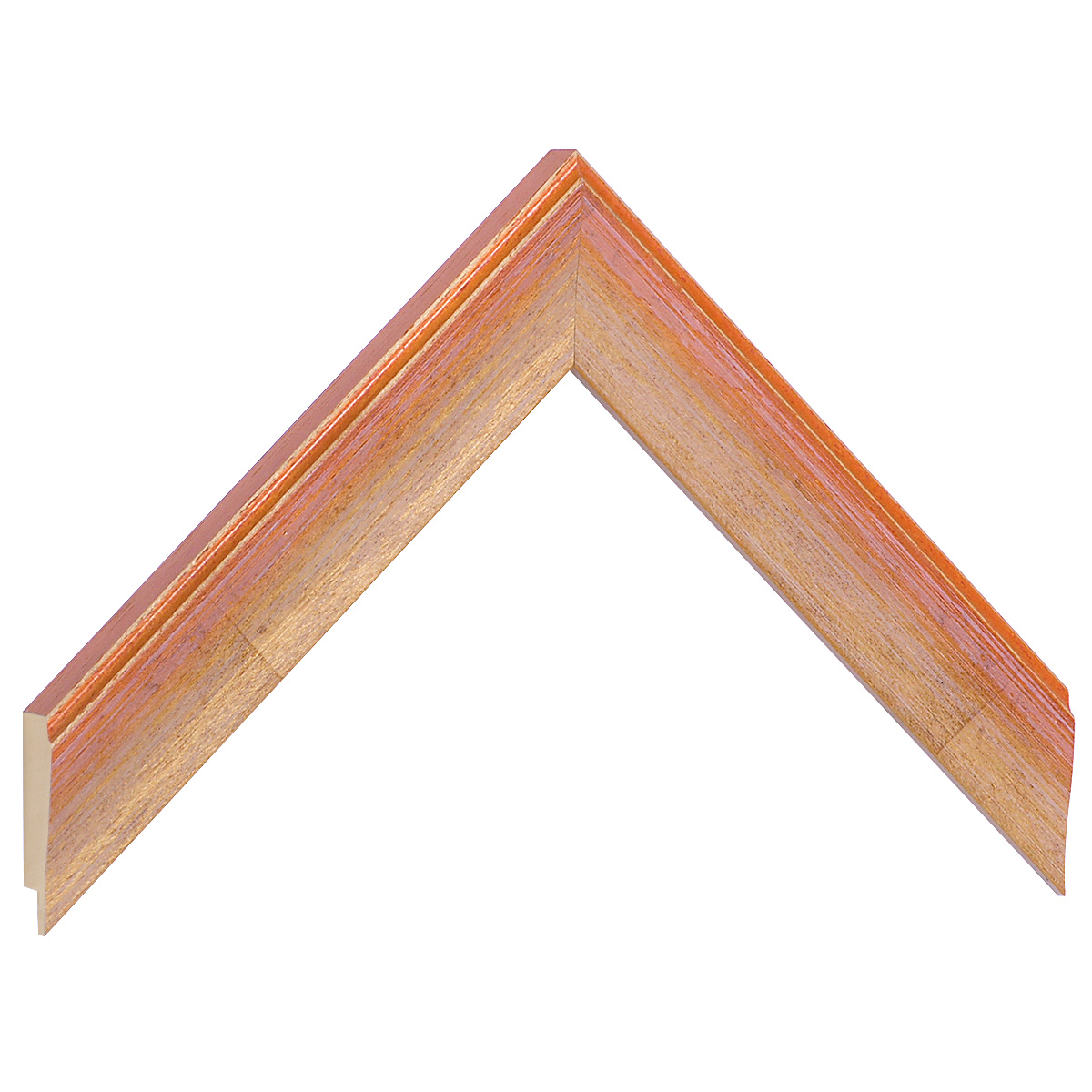 Moulding ayous 30mm - orange colour streaked