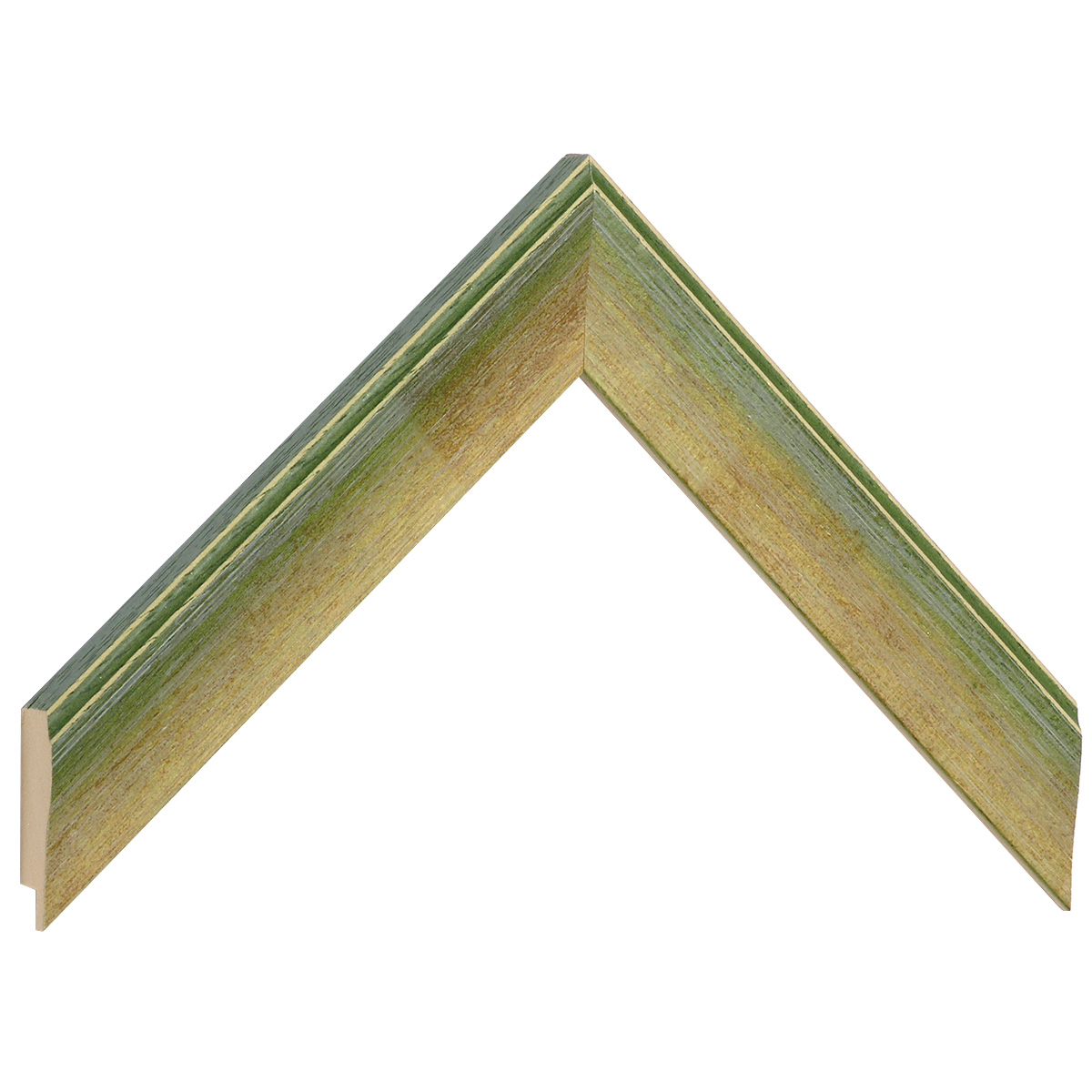 Moulding ayous 30mm - green colour streaked