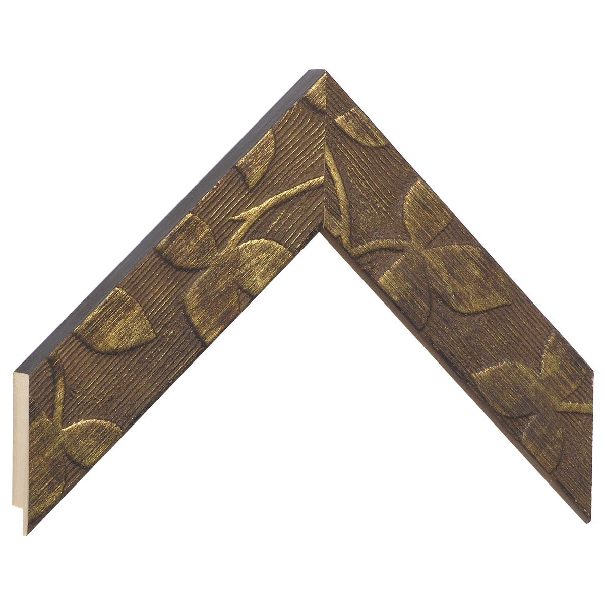 Moulding fir width 40mm heigth 19mm - bronze