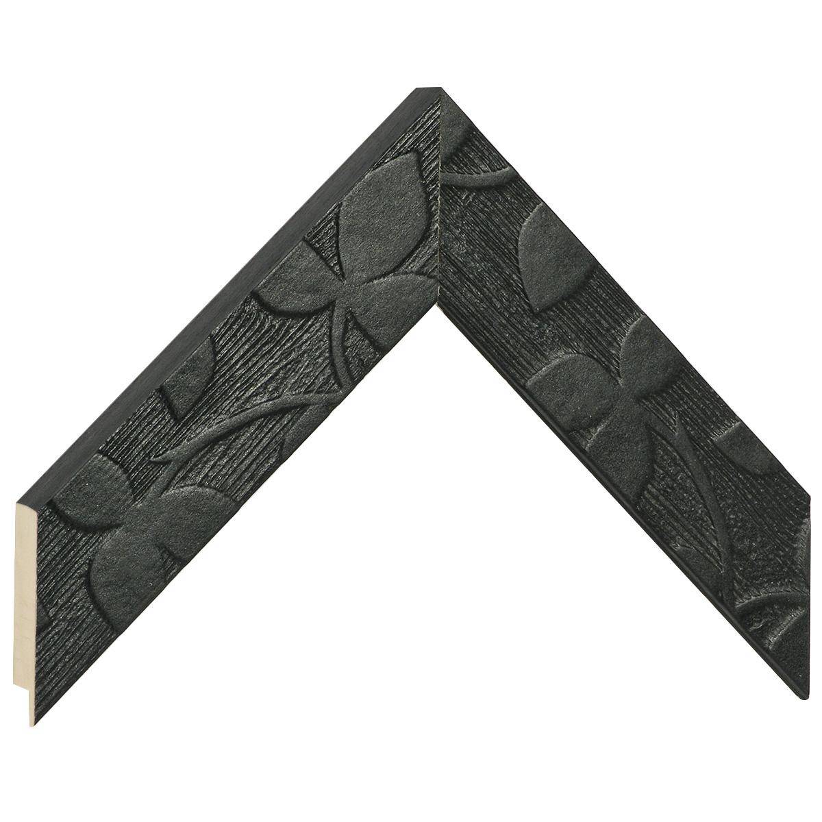 Moulding fir width 40mm heigth 19mm - black