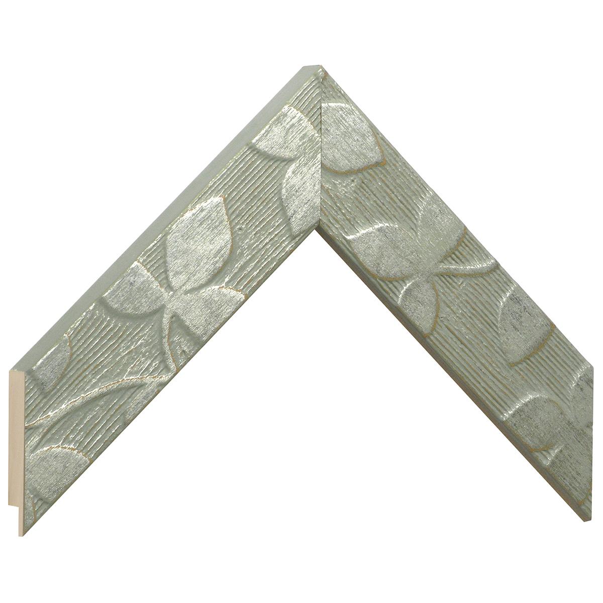 Moulding fir width 40mm heigth 19mm - pearl