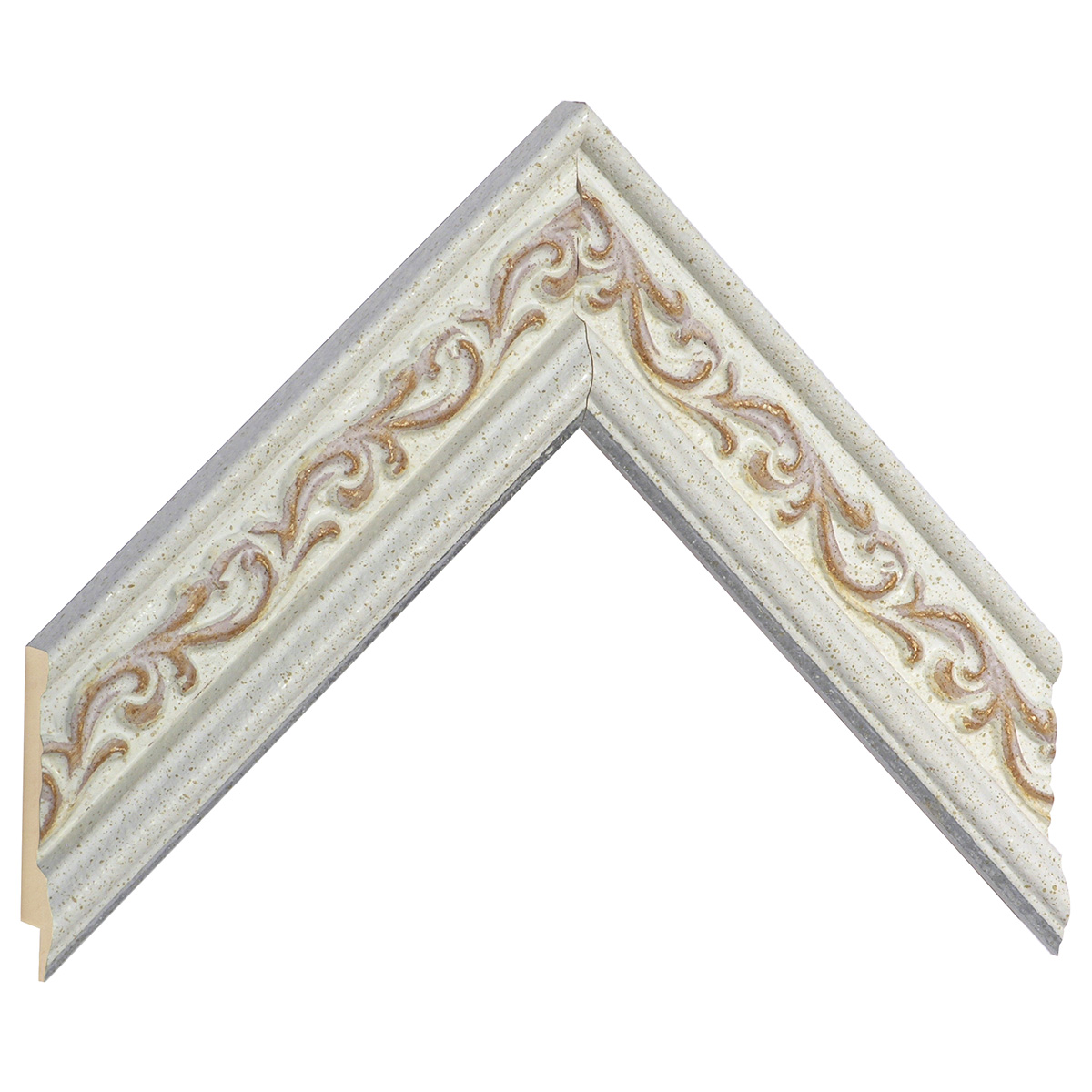 Moulding ayous Width 44mm Height 22, white, decorations