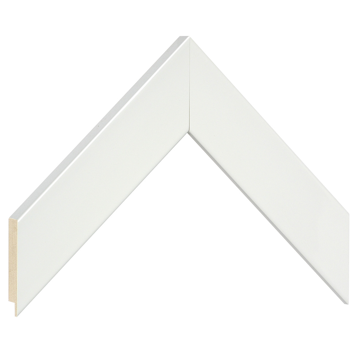 Moulding ayous, width 40mm height 16 - Glossy White