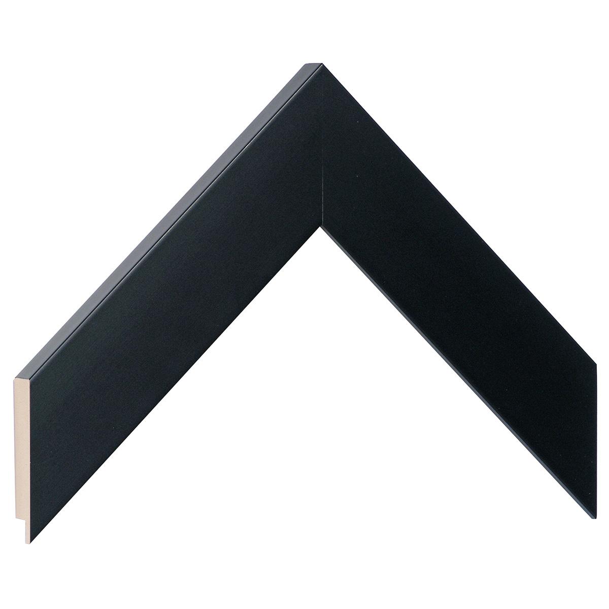 Moulding ayous, width 40mm height 16 - matt black
